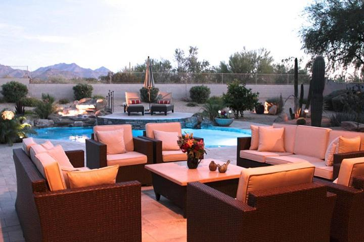 Patio - Scottsdale home with beautiful mountain views, close to shops, golf, and fine restaurants. - Cave Creek - rentals