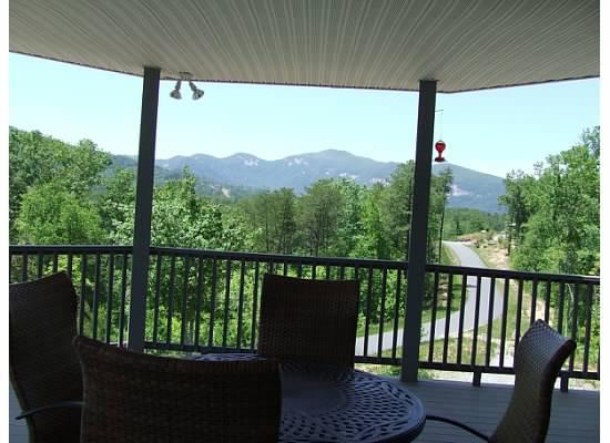 Huge covered gazebo deck to relax and enjoy the views. - Stunning mountain views from our home. - Lake Lure - rentals