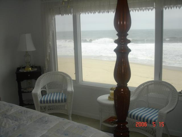 Master Bedroom view - Oceanfront Condo W/ Private Beach & Heated Pool! - Normandy Beach - rentals