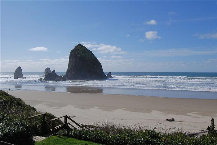 View from deck - Haystack Close North - Cannon Beach - rentals