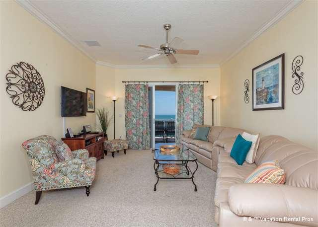 Picture yourself reclining here and watching the sea! - 744 Cinnamon Beach, Beach Front, 4th Floor, HDTV, Huge Balcony - Palm Coast - rentals