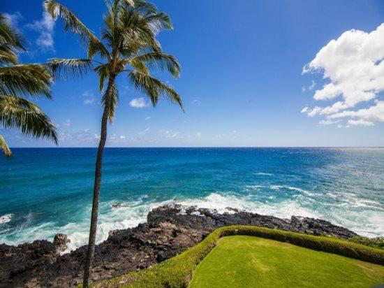 view - Free Car* with Poipu Shores 304A - Gorgeous, newly remodeled oceanfront gem. 2 bed/2 bath, heated Pool! - Poipu - rentals