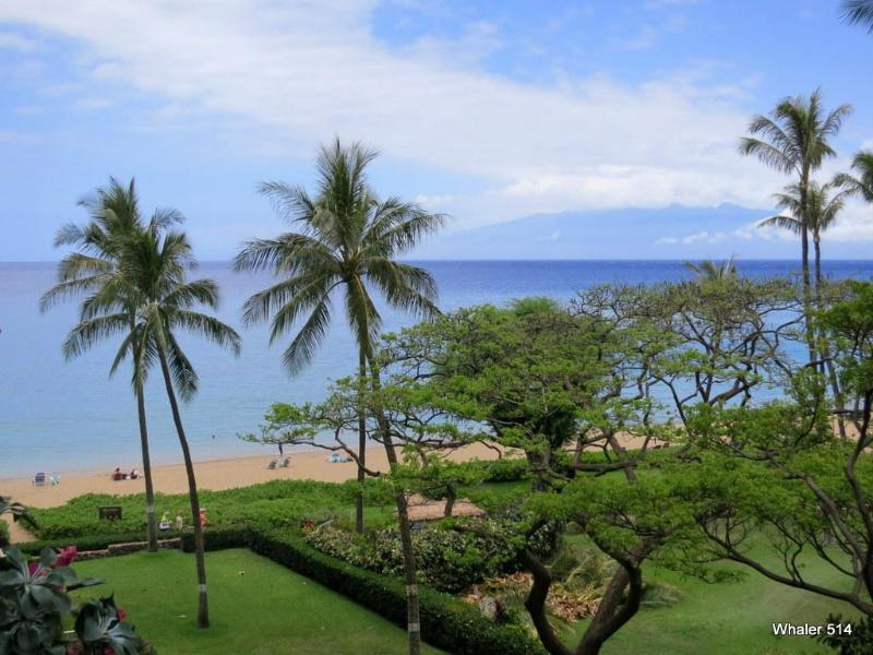 View from private lanai of Kaanapali and island of Molokai - Whaler Luxury Studio - On Kaanapali Beach! - Kaanapali - rentals