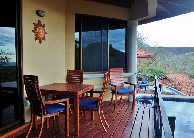 The deck is a great place to enjoy nature and the great ocean view. - Hermosa Heights 34 - Spacious Villa with Beautiful View and Private Pool - Playa Hermosa - rentals