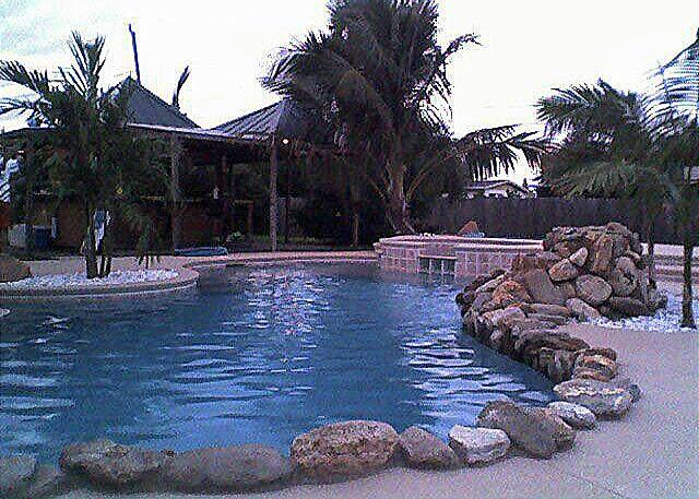 Tiki Bar/ Pool - Skylark Tiki Bar,waterfall, pool-resort style home - Merritt Island - rentals