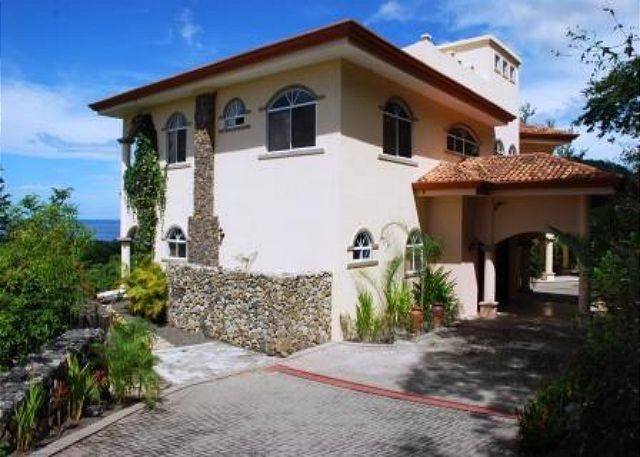 The house is located on the hill in Monte Bello. - Casa Buena Vista - Traditional Spanish Architecture with Contemporary Style - Playa Hermosa - rentals
