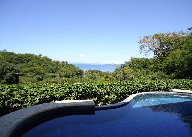 Enjoy the beuatiful ocean view from the pool - Casa Frederick - Stunning Ocean View Villa- A home away from home! - Playa Ocotal - rentals
