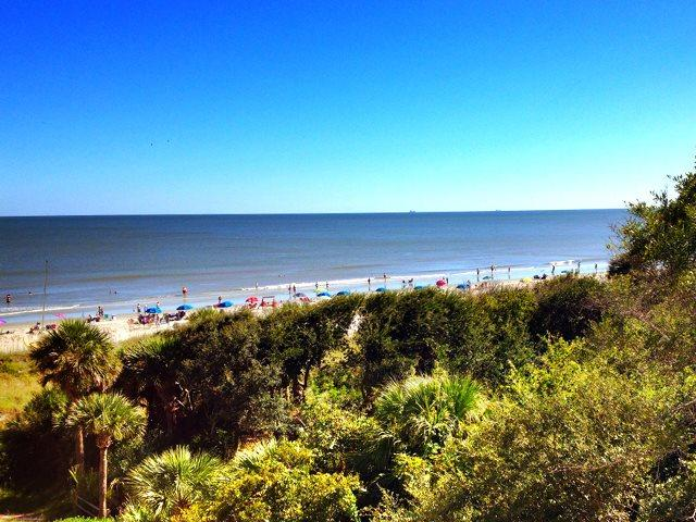 View of beach from living room balcony - Villamare, 3431 - Hilton Head - rentals
