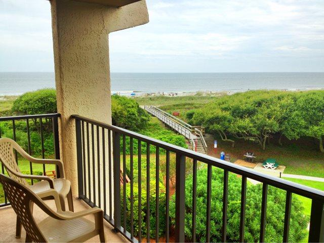 View from balcony - Island Club, 6401 - Hilton Head - rentals