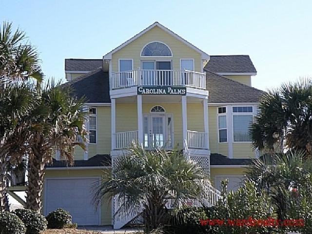 Streetside Exterior - Carolina Palms - North Topsail Beach - rentals