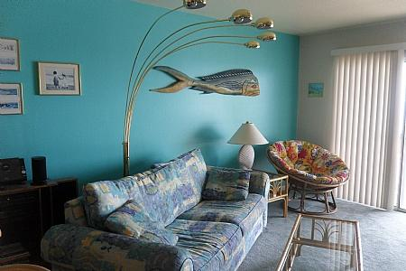 Living Room with a Queen Sleeper - Dolphin Watch - Surf City - rentals