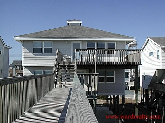 Oceanfront Exterior - What A View - Surf City - rentals
