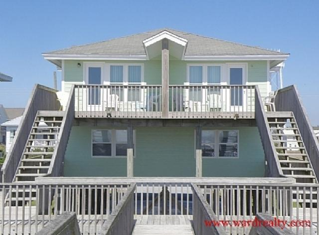Oceanfront Exterior - Yawl Come North - Surf City - rentals