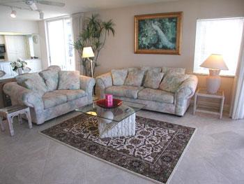 Living Room - The Club at Naples Cay 1001 - Naples - rentals