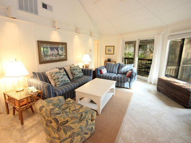 Living area - Night Heron, 18 - Hilton Head - rentals