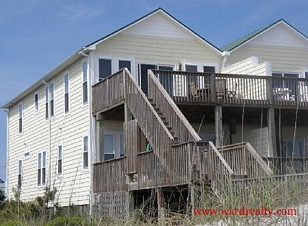 Oceanfront Exterior - Jolly Holiday - Topsail Beach - rentals