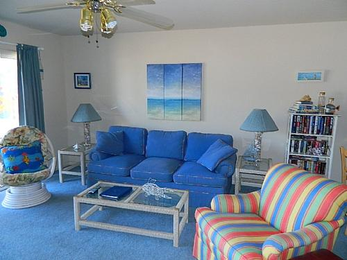 Living Room, View 01 - Surf Condo 215 - Surf City - rentals