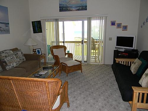 Living Room 01 - Surf Condo 636 - Surf City - rentals