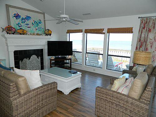 2F Living Room, View 01 - Mintz - Topsail Beach - rentals