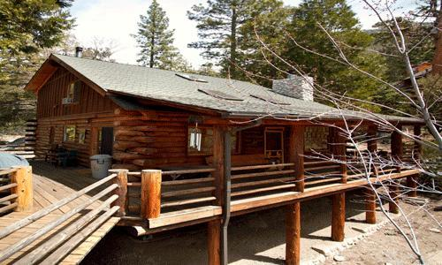 2 Bedroom + guest apartment, dry sauna, Sleeps 6, Pets OK: Two story natural log cabin. Wood burning fireplace. - Edelweiss Log Cabin - Idyllwild - rentals