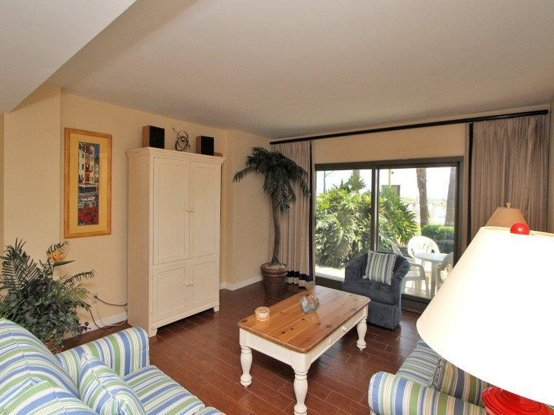 Living Room with Patio Access at 111 Ocean One - 111 Ocean One - Hilton Head - rentals