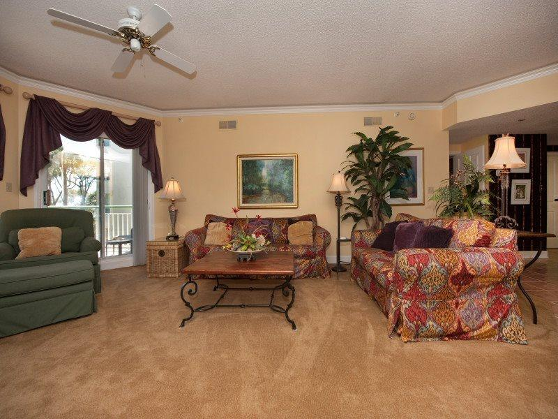 Living Room with Balcony Access at 206 Windsor Place - 206 Windsor Place - Hilton Head - rentals