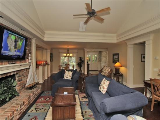 Living Room with Flat Screen at 24 Baynard Cove - 24 Baynard Cove Road - Hilton Head - rentals