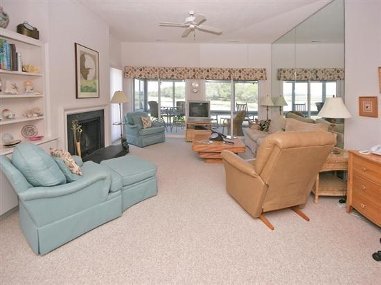 Living Room with Water Views at 24 Lands End Court - 24 Lands End Court - Hilton Head - rentals