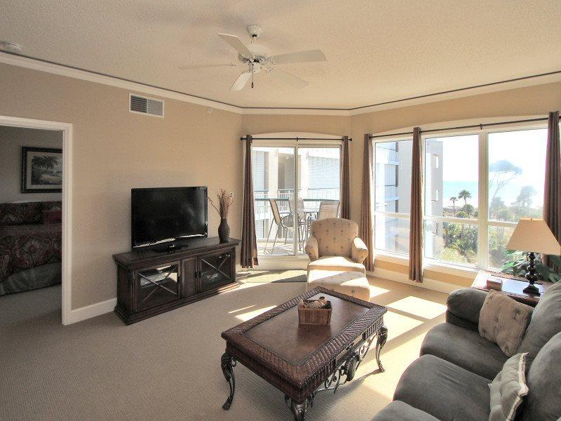 Living Room with Ocean Views at 3403 Windsor Court South - 3403 Windsor Court South - Hilton Head - rentals