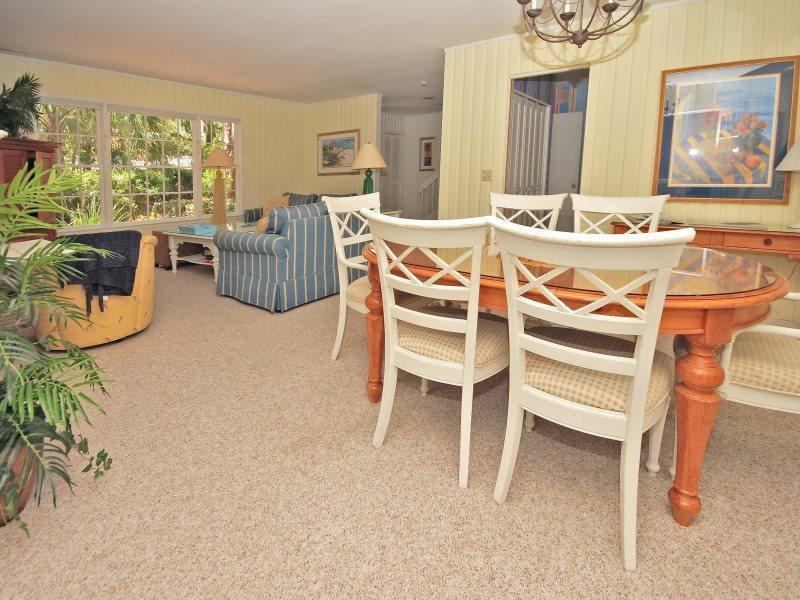 Dining Room and Living Room at 4 Cedar Wax Wing - 4 Cedar Wax Wing - Hilton Head - rentals