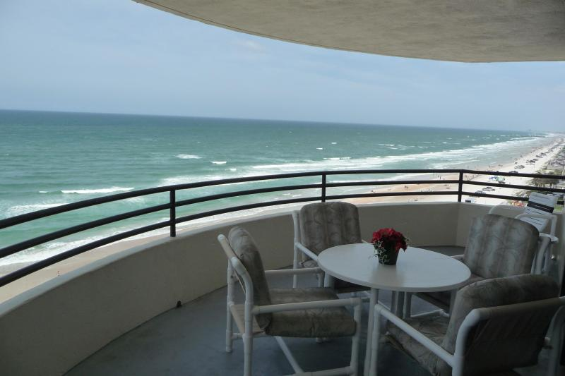 Our private Oceanfront Balcany - OCEANFRONT CONDO/Free WiFi, 3 HD TVs - NON-SMOKING - Daytona Beach - rentals