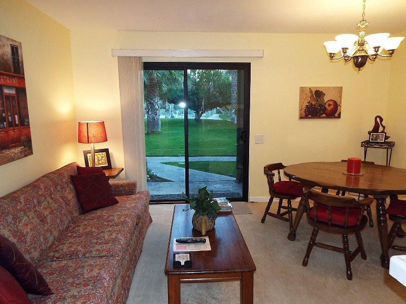 Living Room  to Patio - Ramon Lakeview Villas Two Bedroom #7 - Palm Springs - rentals