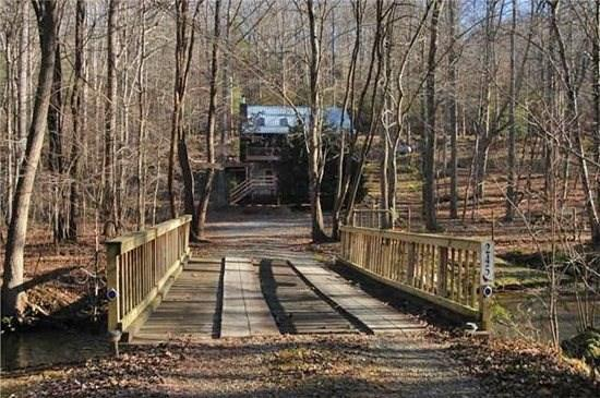 CREEKSIDE COVE*AWESOME 2 BEDROOM + LOFT CABIN~ON A BABBLING CREEK~ONLY 5 MINUTES FROM DOWNTOWN BLUE RIDGE~HOT TUB~GAS GRILL~LARGE FENCED YARD FOR CHILDREN AND PETS~WIFI~SCREENED PORCH~GAS LOG FIREPLACE~GAS GRILL~SLEEPS 8~ONLY $150/NIGHT!! - Image 1 - Blue Ridge - rentals