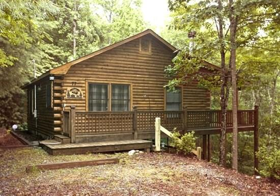 MOUNTAIN HEAVEN*{ONLY $99/NIGHT!}~ 2BR~1BA~KING BED IN MASTER~PRIVATE ROMANTIC SETTING~DESIGNER FURNISHINGS~WIFI~GAS LOG FIREPLACE~CHARCOAL GRILL~HOT TUB~ABUNDANCE OF WILDLIFE! - Image 1 - Blue Ridge - rentals
