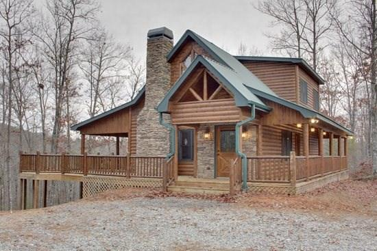 SAFE HAVEN*2 BR~2 BA~CABIN WITH BEAUTIFUL MOUNTAIN VIEWS~WIFI~DISH NETWORK~FREE NETFLIX~GAS AND CHARCOAL GRILLS~TEMPUR-PEDIC MATTRESSES~COMPUTER W/WIFI~POOL TABLE~FOOSBALL~WOODBURNING FIREPLACE~5 PERSON ARTISAN ANTIGUA HOT TUB~JETTED TUB~CUSTOM LOG AND WO - Image 1 - Blue Ridge - rentals