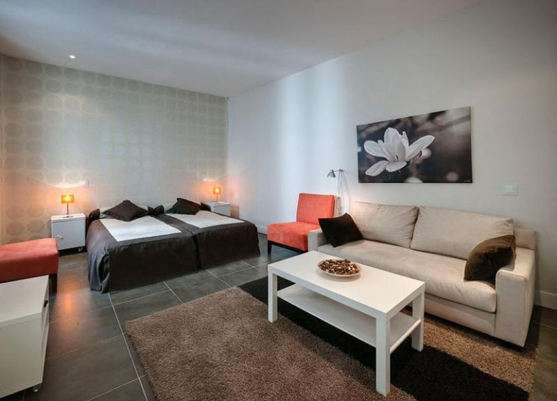 living room / bedroom area - Gran Via 1A apartment in central Madrid - Madrid - rentals