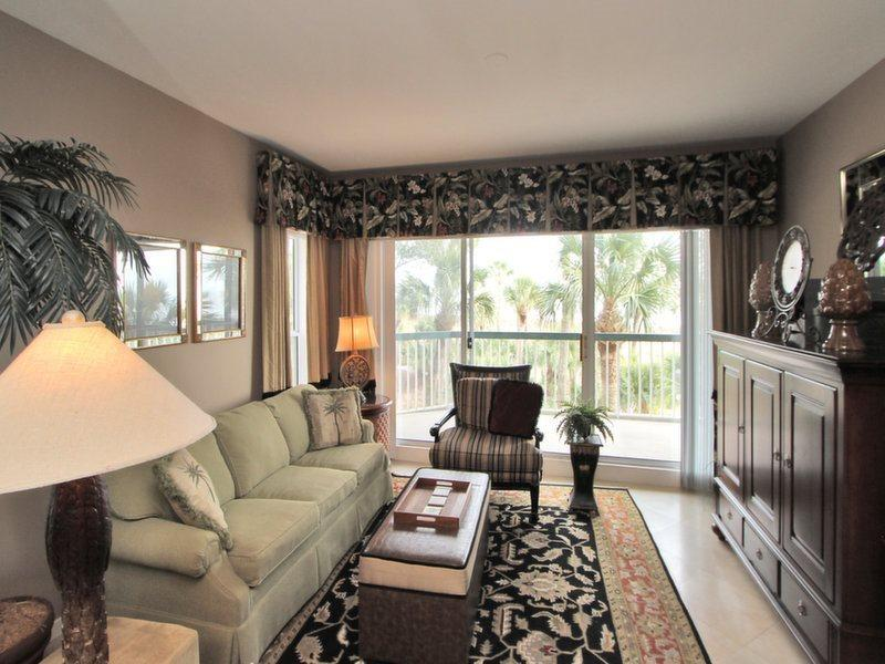Living Room with Ocean Views at 212 Barrington Court - 212 Barrington Court - Hilton Head - rentals