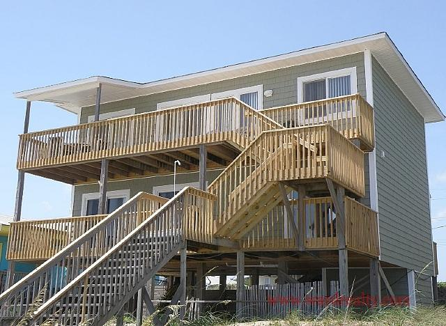 Salty Kisses Oceanfront Exterior - Salty Kisses - Surf City - rentals