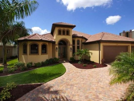 Front Elevation - Majestic By Cape Harbour - 3Be/2Ba Electric Heated Pool/Spa, Sailboat Access, Wifi HS Internet, Cape Harbour Area - Fort Myers - rentals