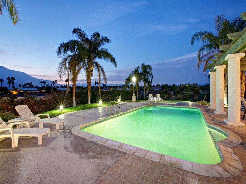 Poolside at Night - H-Shaffer Rancho Mirage Estate - Cathedral City - rentals