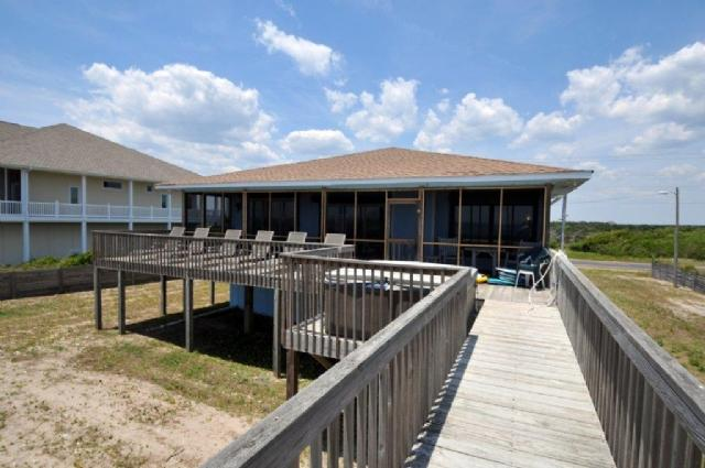 View of House From Beach - Island Drive 3674 - North Topsail Beach - rentals