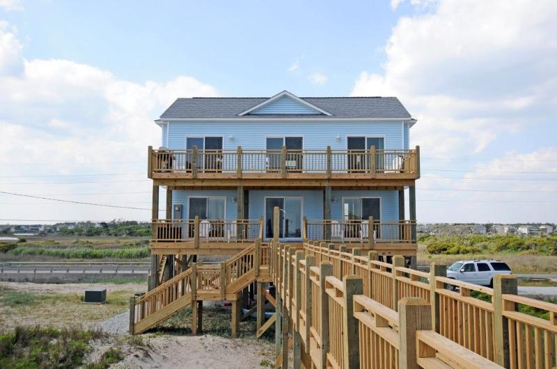 View of House From Beach - New River Inlet Rd 1198 - North Topsail Beach - rentals