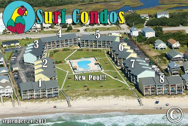 Surf Condo Sep 2013...new pool :) - Surf Condo 436 Oceanview! | Community Pool, Internet - Surf City - rentals