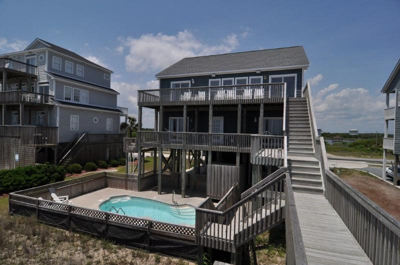 454 New River Inlet Rd - New River Inlet Rd 454 Oceanfront! | Private Heated Pool, Jacuzzi, Internet - North Topsail Beach - rentals