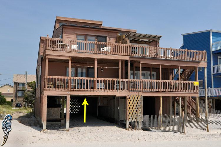 2328 New River Inlet Rd - New River Inlet Rd 2328-1 Oceanfront! | As close to the beach as you can get!!! - North Topsail Beach - rentals