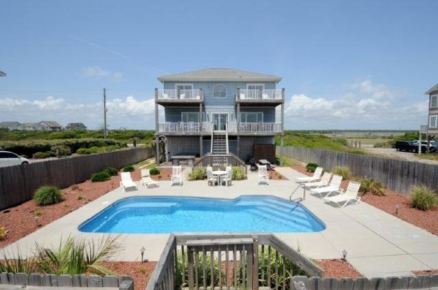 View of House From Beach - Island Drive 3858 - North Topsail Beach - rentals