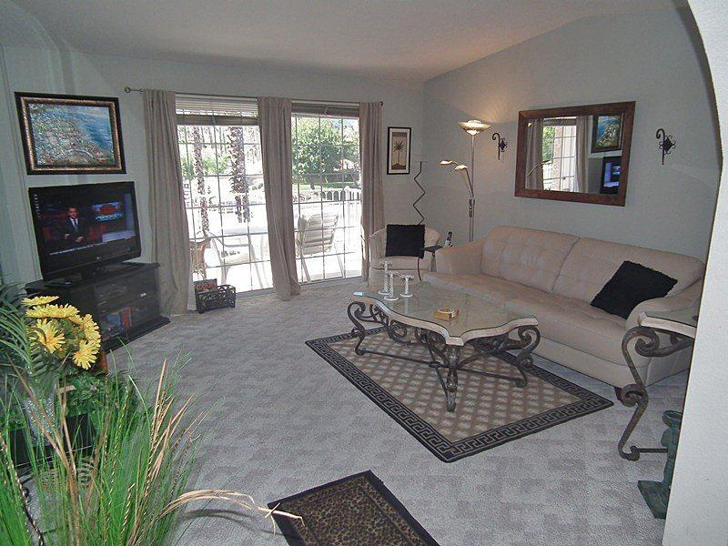 Living Room to Patio - Mesquite Country Club Palm Springs Two Bedroom #A2 - Palm Springs - rentals