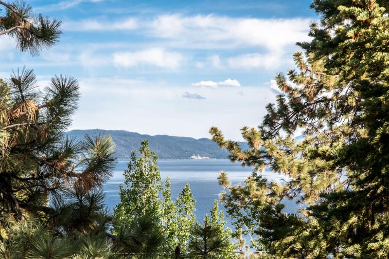 View from deck - Tahoe City Lakeview Home-Pet Friendly and hot tub - Tahoe City - rentals