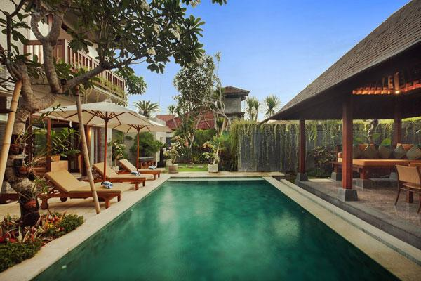 The Swimming Pool and Garden - Villa Alun - 3 Bedroom Private Villa in Seminyak - Seminyak - rentals