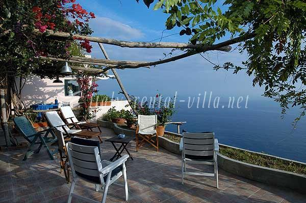 terrace - Torre A Mare - nice sea view from the garden - Praiano - rentals